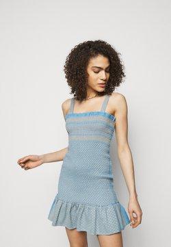 CECILIE copenhagen - JUDITH - Vestido de punto - blue