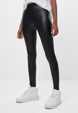 Bershka - Leggings - Hosen - black