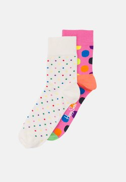 Happy Socks - DOT HALF CREW SOCK BIG DOT HALF CREW SOCK UNISEX 2 PACK - Socken - multi-coloured