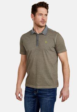 LERROS - MIT FEINEN QUERSTREIFEN - Poloshirt - brindle beige