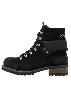 Tommy Jeans - TURN COLLAR BOOT - Schnürstiefelette - black