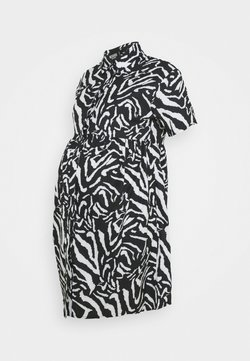 Missguided Maternity - SMOCK DRESS ZEBRA - Blusenkleid - black