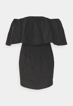 Missguided - FRILL BARDOT MINI DRESS - Cocktailkleid/festliches Kleid - black