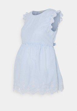 JoJo Maman Bébé - BRODERIE BLOUSE - Bluse - blue