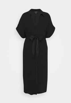 Forever New Curve - CAMILLA TIE FRONT DRESS - Freizeitkleid - black