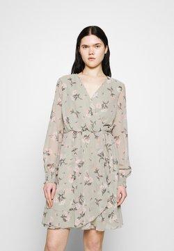 Vero Moda - VMZALLIE WRAP DRESS - Kjole - desert sage/zallie