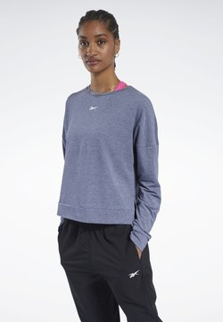 Reebok - ACTIVCHILL+COTTON LONG-SLEEVE TOP - Collegepaita - blue