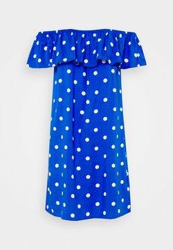 Pour Moi - TEXTURED WOVEN BARDOT BEACH DRESS - Strandaccessoire - blue/white