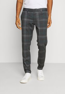 Only & Sons - ONSMARK KAMP TAP CHECK PANT - Stoffhose - pine grove