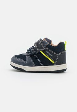 Geox - NEW FLICK BOY - Baskets montantes - navy/fluo yellow