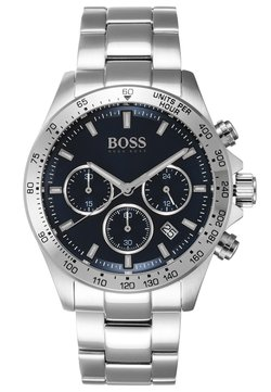 BOSS - Rannekello ajanottotoiminnolla - silver-coloured/metallic blue