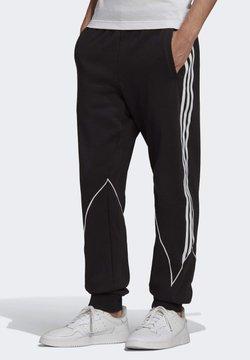 adidas Originals - BIG TREFOIL ABSTRACT - Verryttelyhousut - black