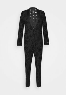 Twisted Tailor - MILBURN FLOCKING SUIT SET - Anzug - charcoal