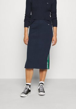 Tommy Jeans - SKIRT - Bleistiftrock - twilight navy