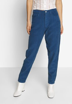 Missguided - RIOT HIGH RISE JUMBO MOM JEAN PETROL - Trousers - blue