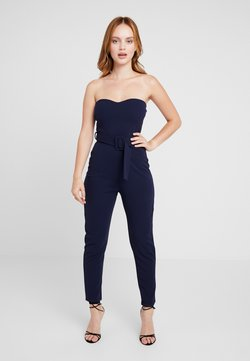Missguided Petite - SELF FABRIC BELT - Combinaison - navy