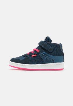 Kickers - BILBON MID - Höga sneakers - marine bleu glitter