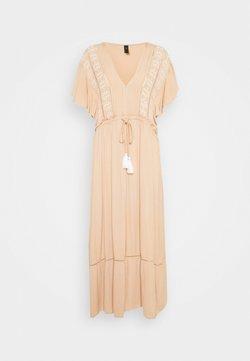 YAS Tall - YASFANNI MIDI DRESS FEST - Korte jurk - toasted almond