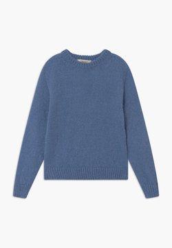 TWINSET - MAGLIA MIX - Strickpullover - blue denim