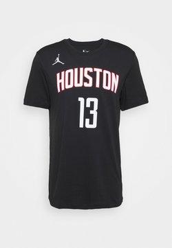 Nike Performance - NBA HOUSTON ROCKETS JAMES HARDEN NAME & NUMBER TEE - T-shirt imprimé - black