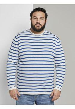TOM TAILOR MEN PLUS - Strickpullover - white victory blue stripe