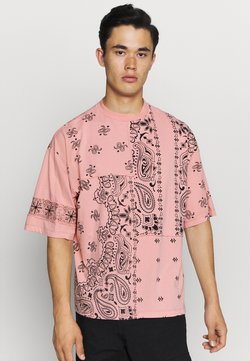 Jaded London - CUT AND SEW PAISLEY TEE - T-shirt con stampa - pink