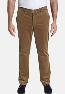 Charles Colby - CLYDE - Pantalon classique - hellbraun