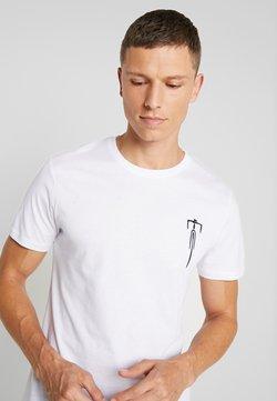 Pier One - Camiseta estampada - white