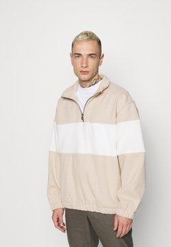 Topman - HERRINGBONE BLOCKED  - Sweatshirt - stone