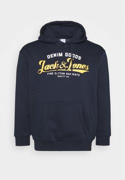 Jack & Jones - JJELOGO HOOD - Sweat à capuche - navy blazer