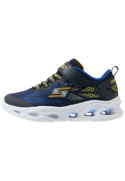 Skechers - VORTEX FLASH - Sneaker low - navy/yellow/royal