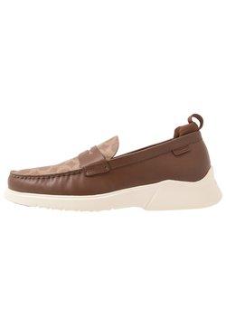 Coach - CITYSOLE SIGNATURE LOAFER - Slipper - khaki/saddle