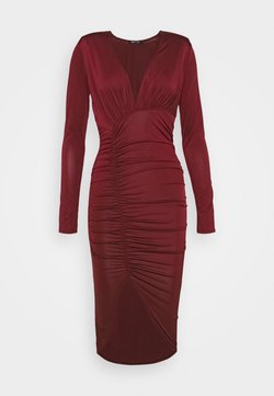 Nly by Nelly - PLUNGE RUCHED DRESS - Vestido ligero - red