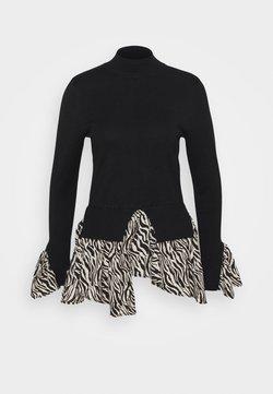 New Look - ZEBRA   - Strickpullover - black