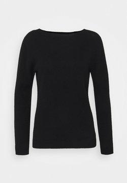 Johnstons of Elgin - GAUZY CREW NECK - Sweter - black