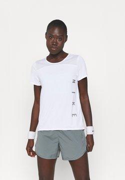 Nike Performance - RUN MILER  - T-Shirt print - white/silver
