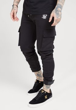 SIKSILK - PANTS - Cargo trousers - black