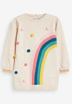 Next - RAINBOW POM  - Strickkleid - off-white
