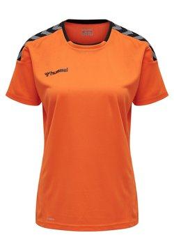 Hummel - HMLAUTHENTIC  - T-shirt print - tangerine