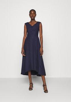 Closet - HIGH LOW PLEATED DRESS - Vestido de cóctel - navy