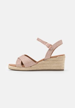 New Look Wide Fit - WIDE FIT PRAWN - Espadrilles - rose gold
