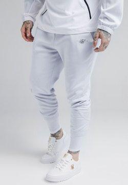 SIKSILK - TRANQUIL DUAL CUFF PANTS - Jogginghose - light blue/white