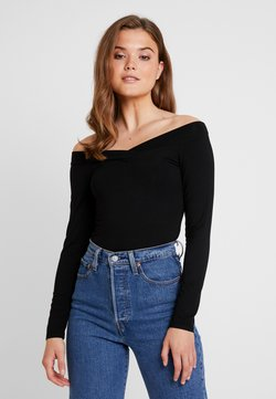 Pieces - PCMALIVA OFF SHOULDER V-NECK - Langarmshirt - black