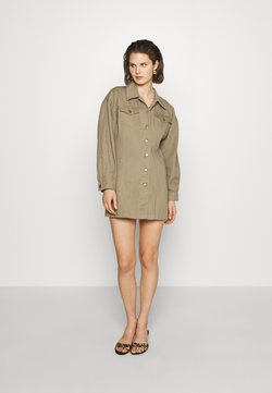 Who What Wear - THE JACKET MINIDRESS - Denim dress - light tobacco