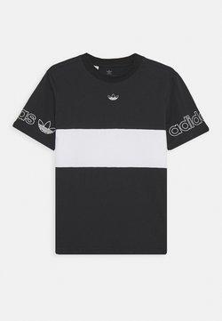 adidas Originals - PANEL TEE UNISEX - T-shirt med print - black