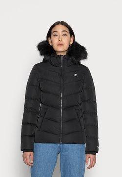Calvin Klein Jeans - SHORT FITTED PUFFER - Talvitakki - black