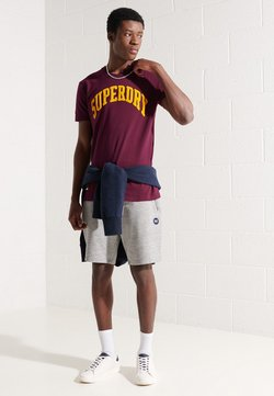 Superdry - ARCH - Print T-shirt - wine
