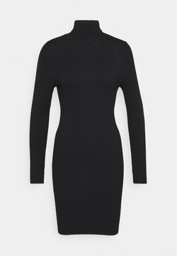 ONLY - ONLELLY ROLLNECK DRESS - Strickkleid - black