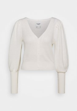 Abercrombie & Fitch - SWIRLY CABLE SHORT CARDI - Gilet - cream