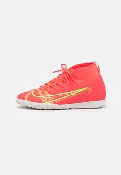 Nike Performance - MERCURIAL 8 CLUB IC UNISEX - Zaalvoetbalschoenen - bright crimson/metallic silver